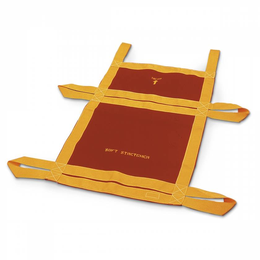 Soft Stretcher - 21 in. x 35 in. - Red and Yellow