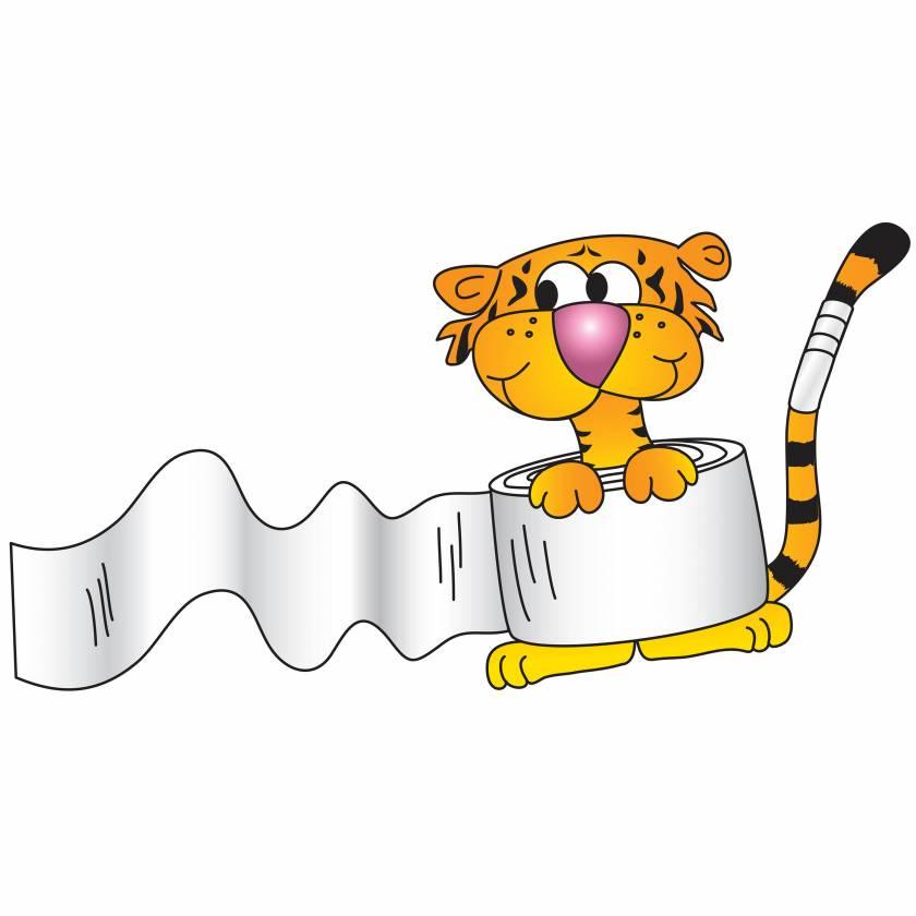 Clinton 9735 Bandage Tiger Graphic