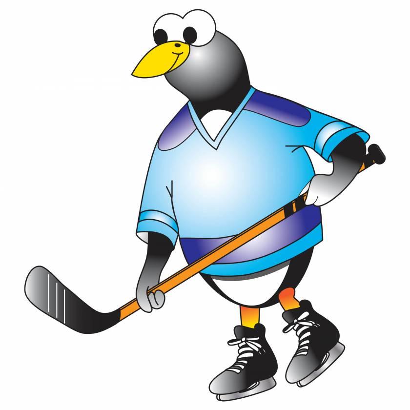 Clinton 9744 Hockey Penguin Graphic