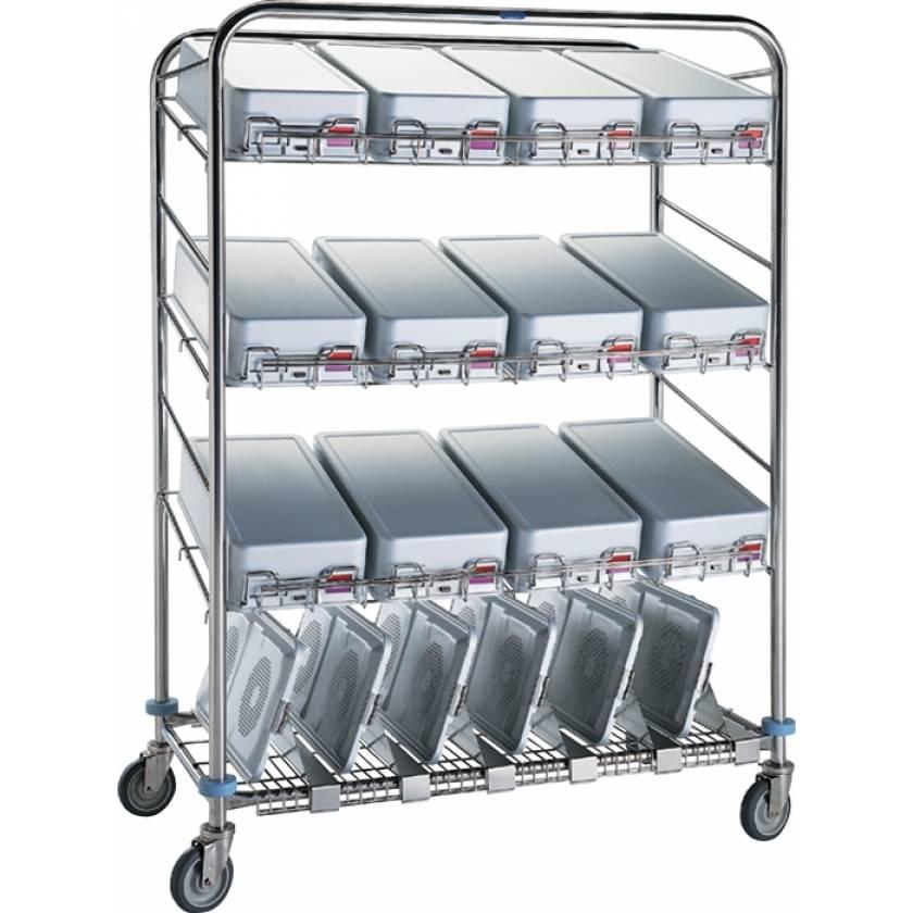 Pedigo Instrument Container Wash Cart