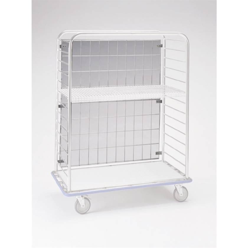 Pedigo Stainless Steel Wire Back - 4 x 6 Grid Size for CDS-178 Central Supply Cart