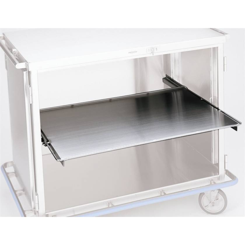 Pedigo Stainless Steel Roll Out Solid Shelf for CDS-235 Surgical Cart
