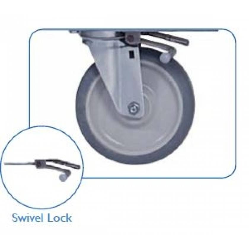 "Pedigo Swivel Lock For 6"" Casters - Set Of 2 (Factory Installed)"