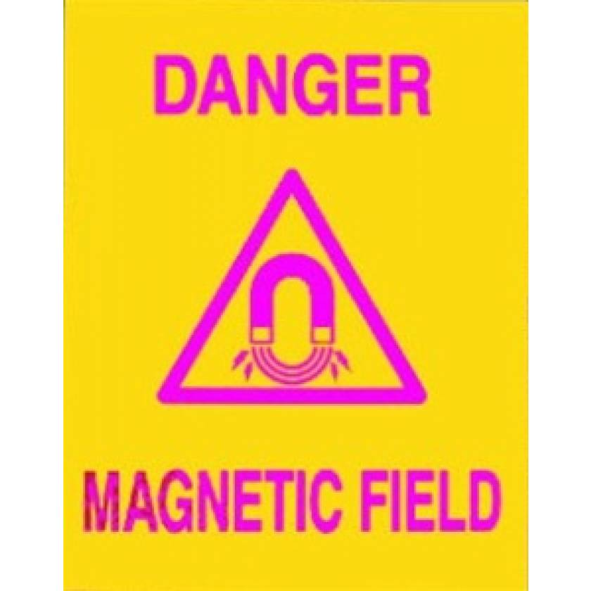 Silk Screened Sign Danger Magnetic Field