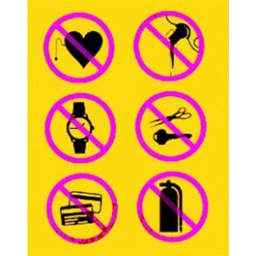 Silk Screened Sign No Metal Symbols