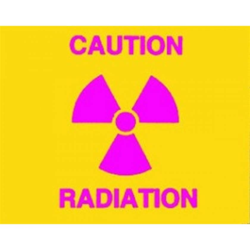 Silk Screened Sign Caution Radiation