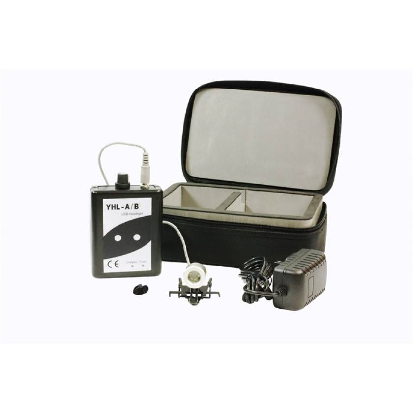 Clip-On LED Loupe Light with Case and Rechargeable Battery