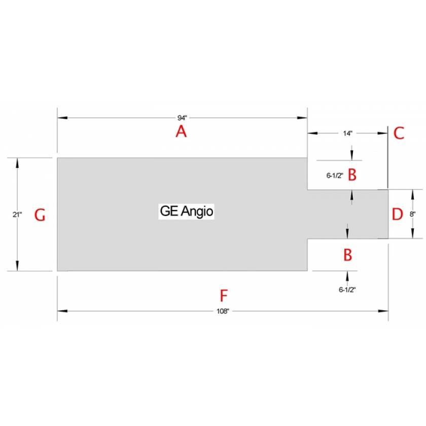 GE Angio Table Pad