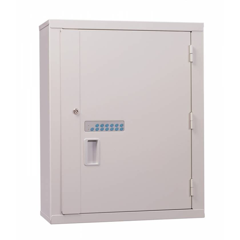 Lakeside High Security Narcotic Cabinet - Electric Lock, 1 Fixed Shelf & 2 Adjustable Shelves