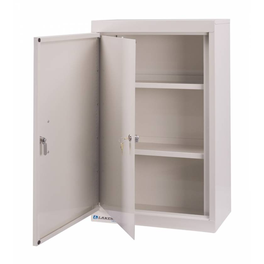"Lakeside Narcotic Cabinet w/ Handle; Two Shelves, Double Door, Double Lock - 30"" H x 18"" L x 10"" W"