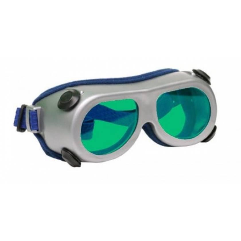 Flat Glass Model 55 Laser Glasses - Green Lenses