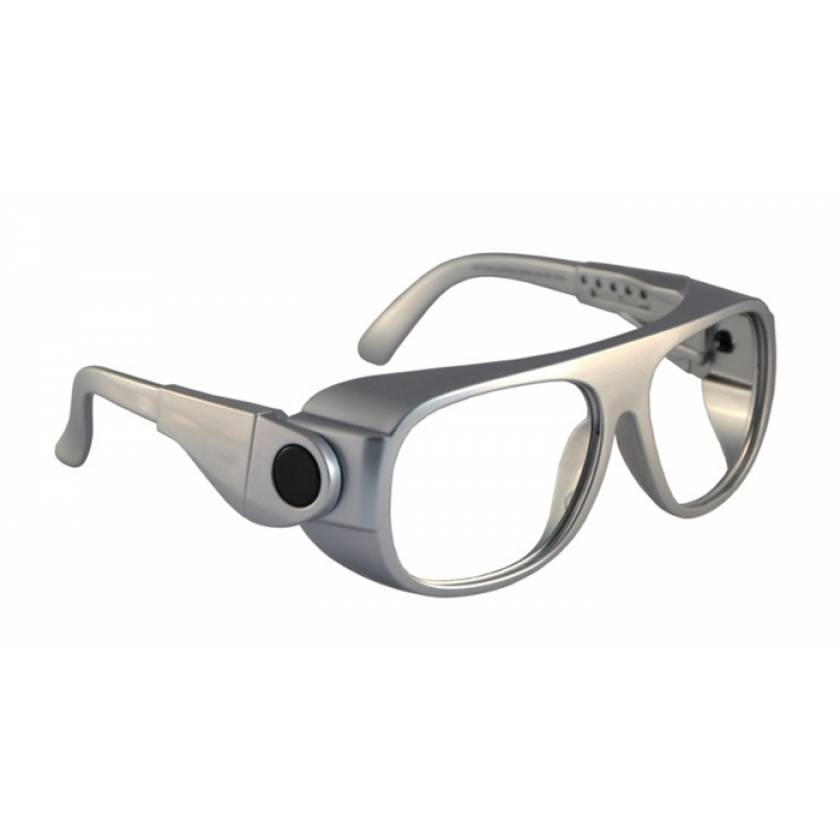 CO2 Excimer Laser Safety Glasses - Model 66 - Silver Frame