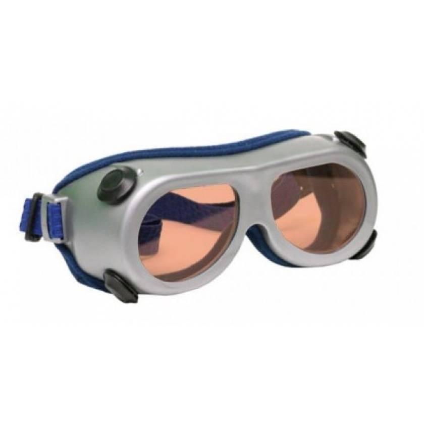 Flat Glass Model 55 Laser Glasses - Pink Lenses - Wavelength 190-535m