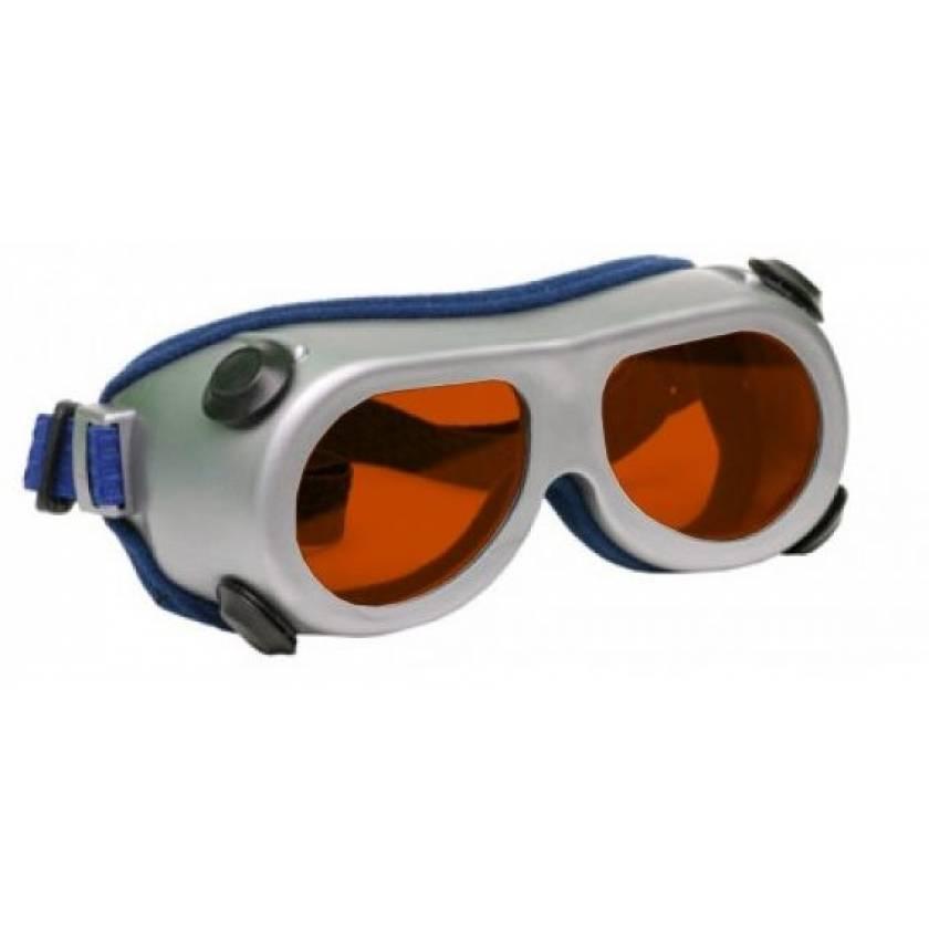 Flat Glass Model 55 Laser Glasses - Orange Lenses