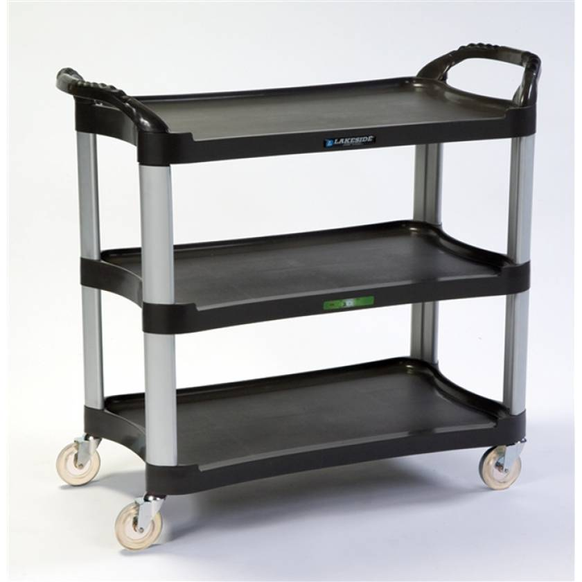 Lakeside Medium Duty Stain Resistant Plastic Utility Cart - Charcoal