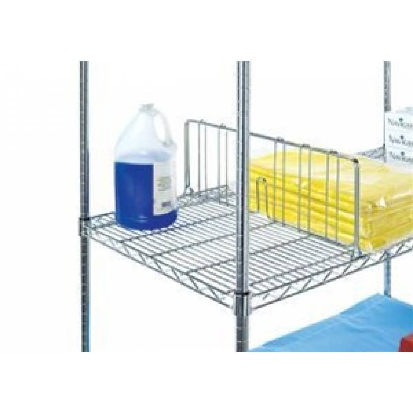 """Lakeside Shelf Divider 24"""" L x 8"""" H for Wire Carts"""