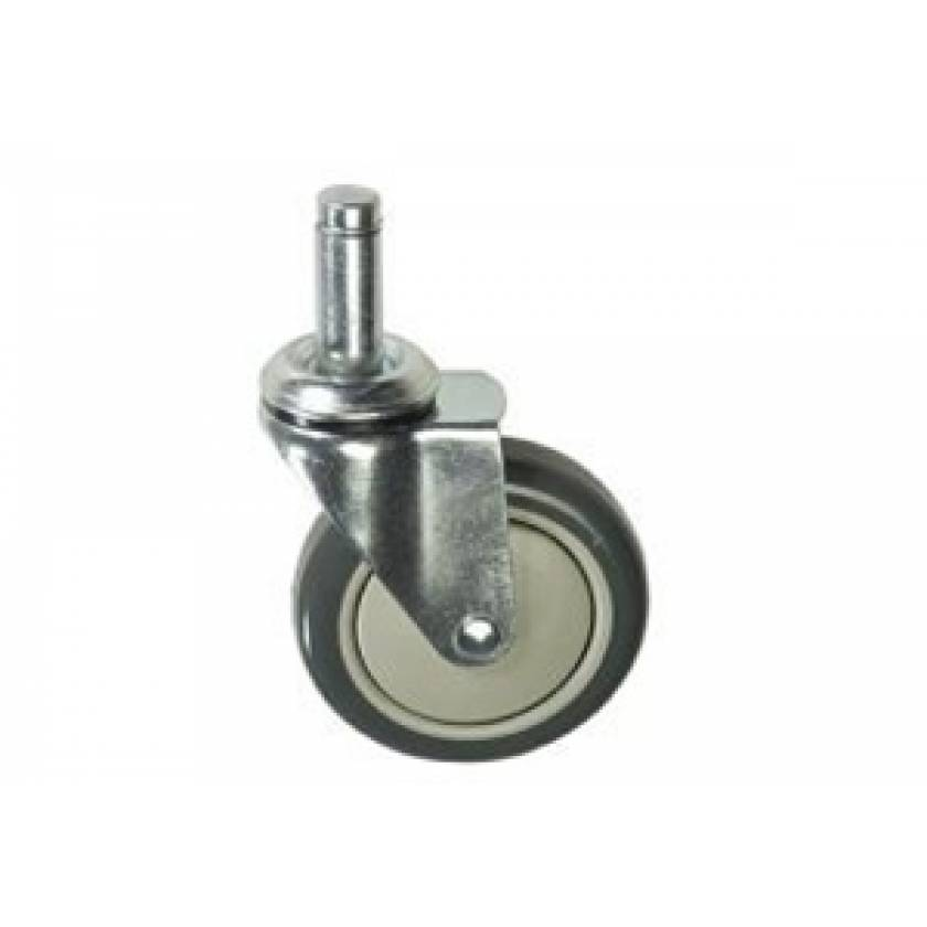 "Lakeside 5"" x 1 1/4"" Stem Caster - Swivel - Polyurethane"