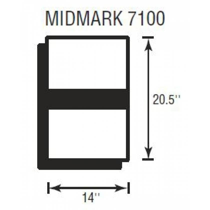 """Midmark 7100 Softcare Head Section 2"""" Thick"""
