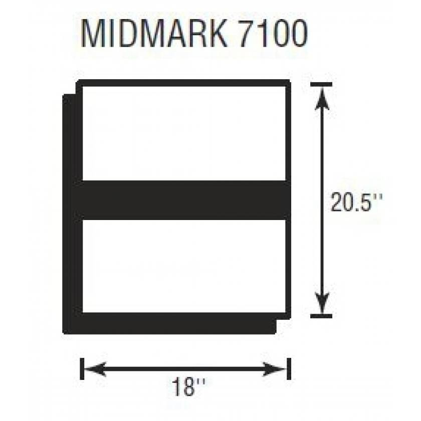 "Midmark 7100 Deluxe Foot Section 2"" Thick"