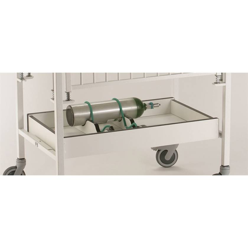 """Under Crib Storage Unit with O2 Tank Cutouts For 24"""" x 36"""" Cribette"""
