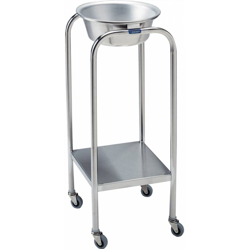 Pedigo Stainless Steel Single Basin Stand With 1 Stainless Steel Basin & Lower Shelf