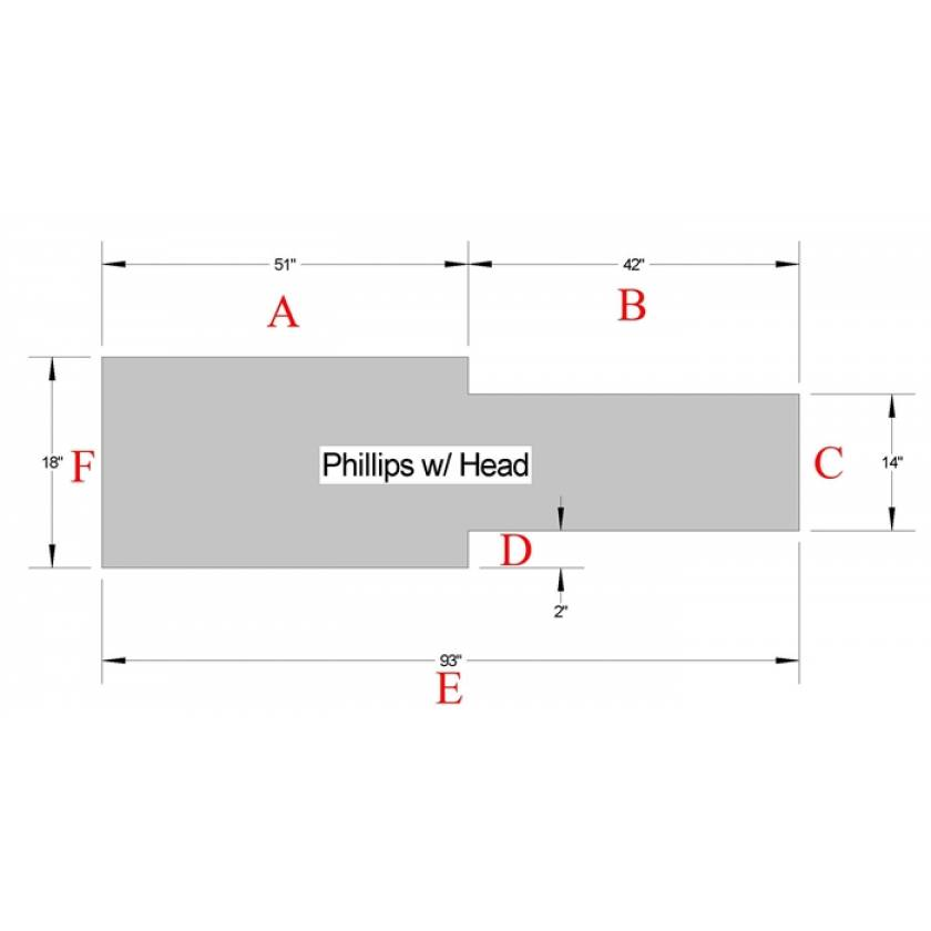 Philips Table Pad with Head