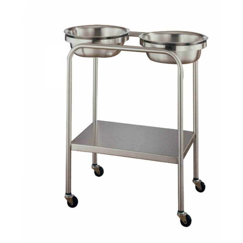 Double Basin Stand with Shelf