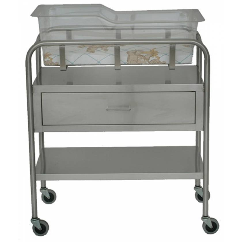 Stainless Steel Bassinet with Drawer
