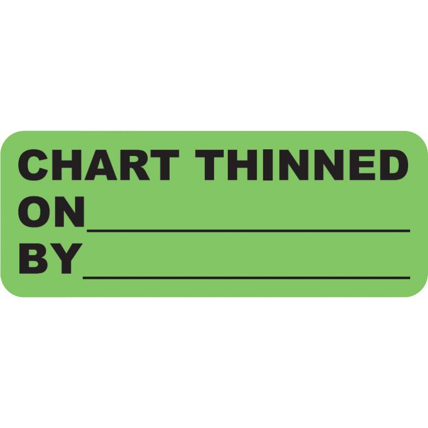 "CHART THINNED Label - Size 2 1/4""W x 7/8""H"
