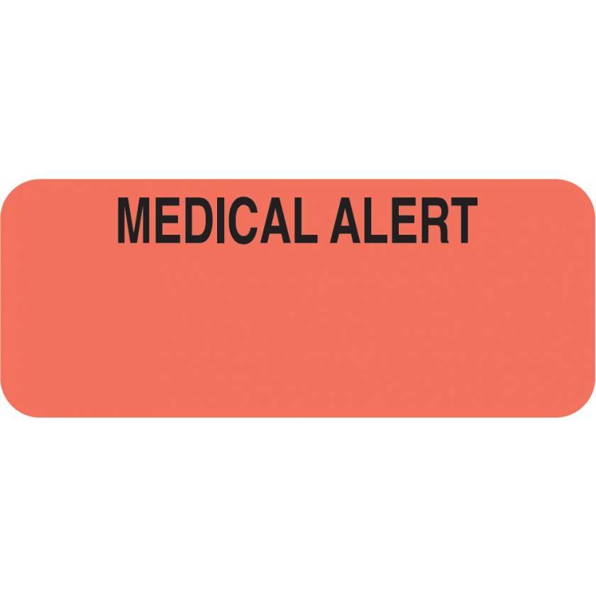 "MEDICAL ALERT Label - Size 1 7/8""W x 3/4""H"