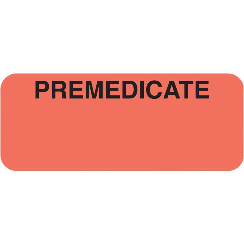 """PREMEDICATE Label - Size 1 7/8""""W x 3/4""""H"""