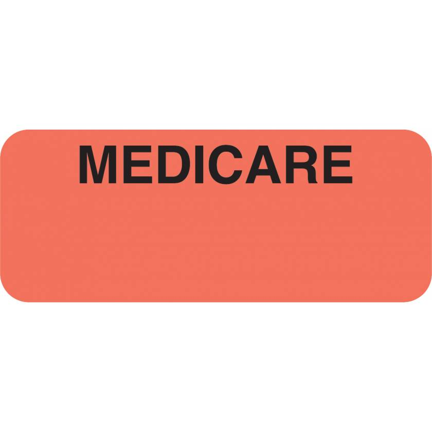 "MEDICARE Label - Size 1 7/8""W x 3/4""H"
