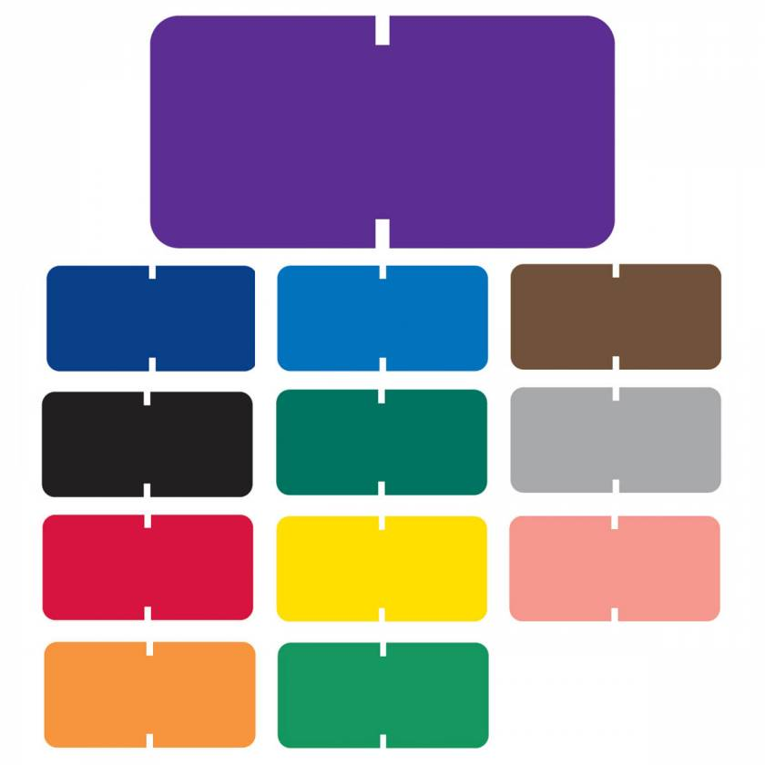 """Tab Products 1281 Match Solid Color Roll Labels - 1/2""""H x 1""""W"""