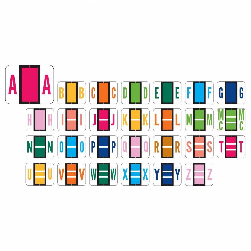 "Tab Products 1286 Match Alpha Sheet Labels - 1""H x 1 1/4""W"