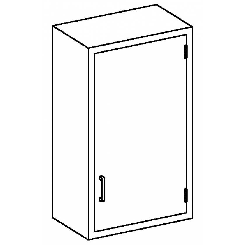 Stainless Steel Wall Cabinet with Single Solid Hinged Door