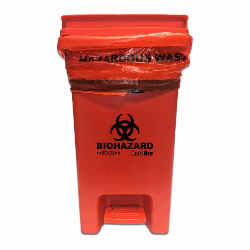 MTC Bio A8000B BowTie Biohazard Bin with Hands-Free Foot Pedal
