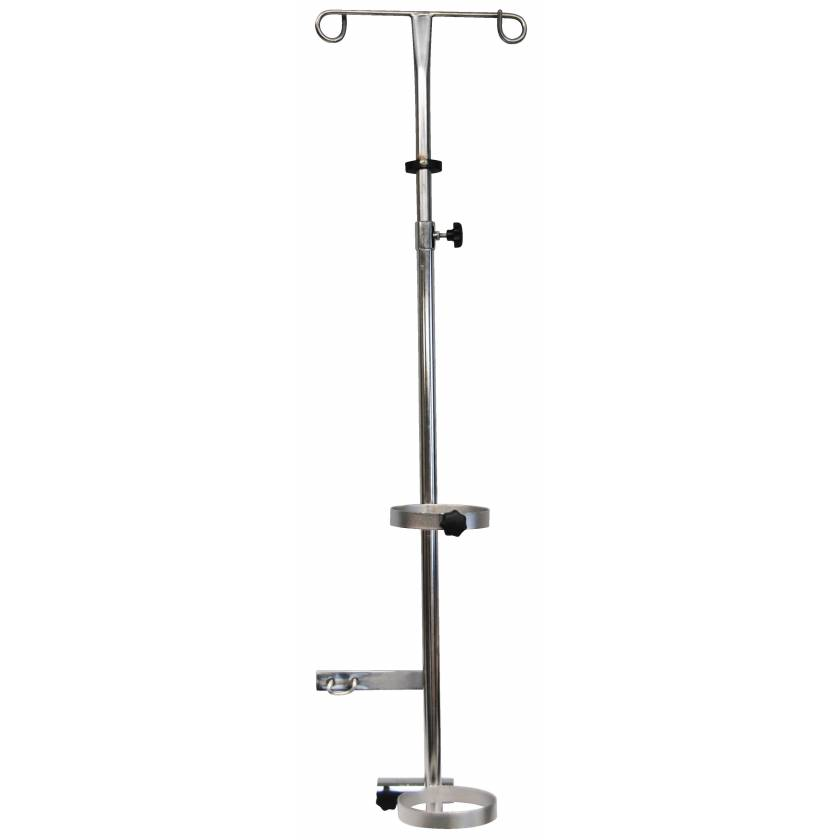 IV Pole & Oxygen Tank Holder Combo for Non-Magnetic Wheelchair