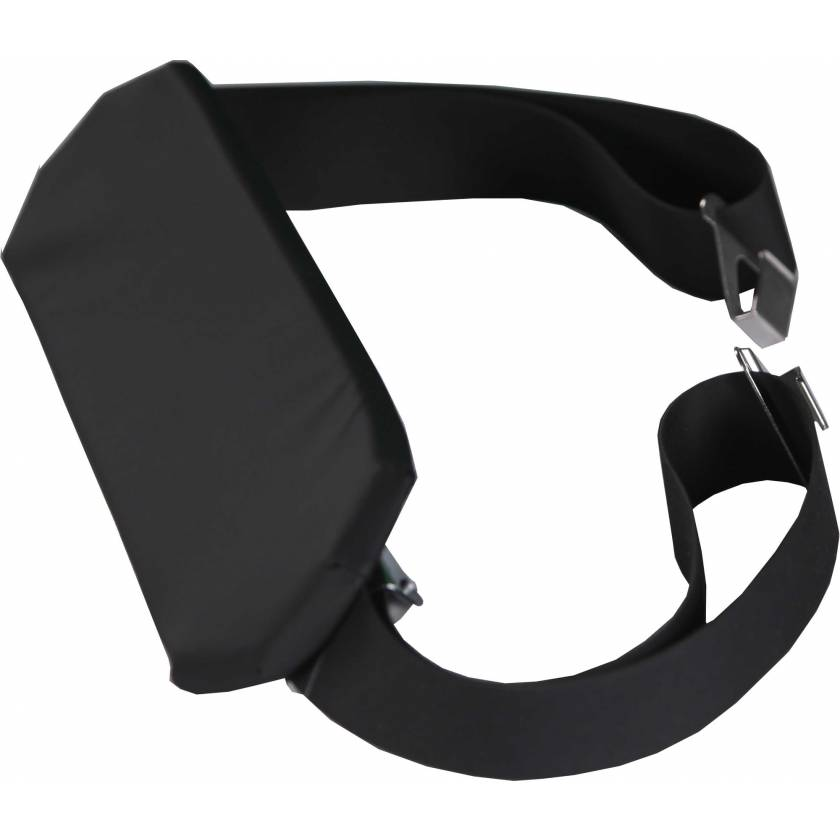 Padded Rubber Patient Restraint Strap with Buckles and Hooks