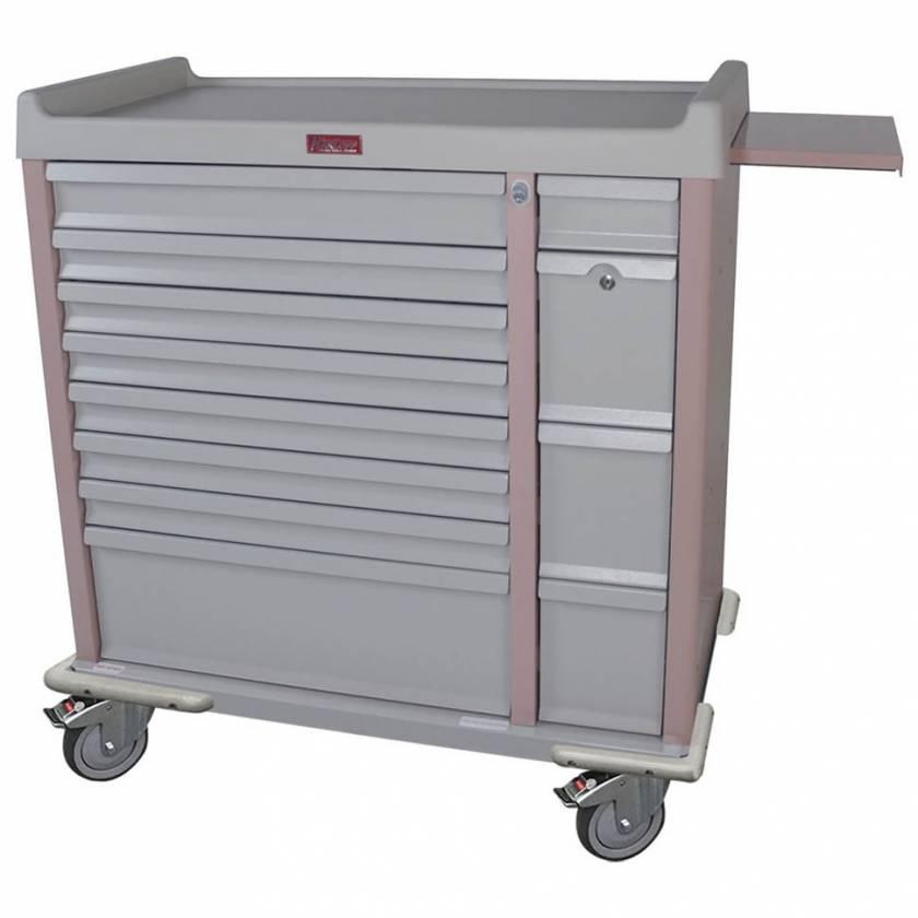 Harloff AL294BOX OptimAL Line Aluminum 294 Unit-Dose Box Medication Cart with Key Locks