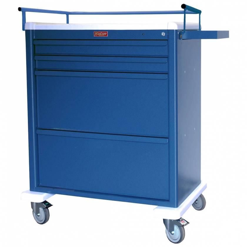 Harloff AL8W10K4DSP Aluminum Universal Line DISPILL® Compatible Medication Cart with Key Lock