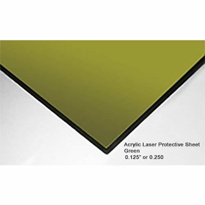 "ALS 1100 Laser Protective Acrylic Sheet - Green - 0.250"" Thickness"