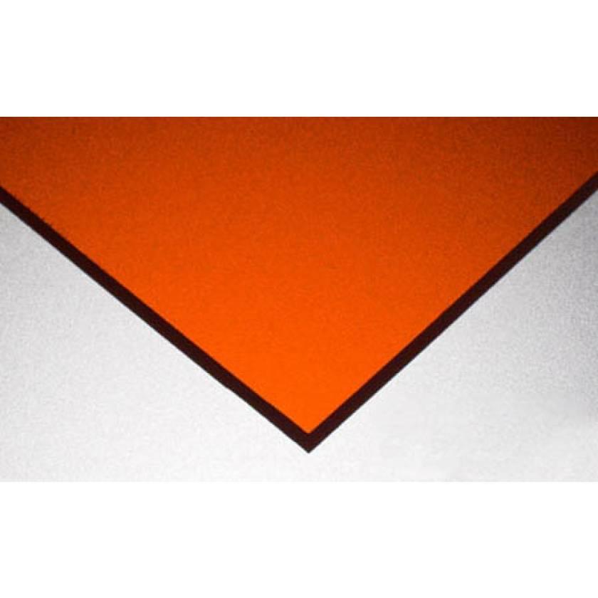 Near VIS Laser Protective Acrylic Sheet - Orange