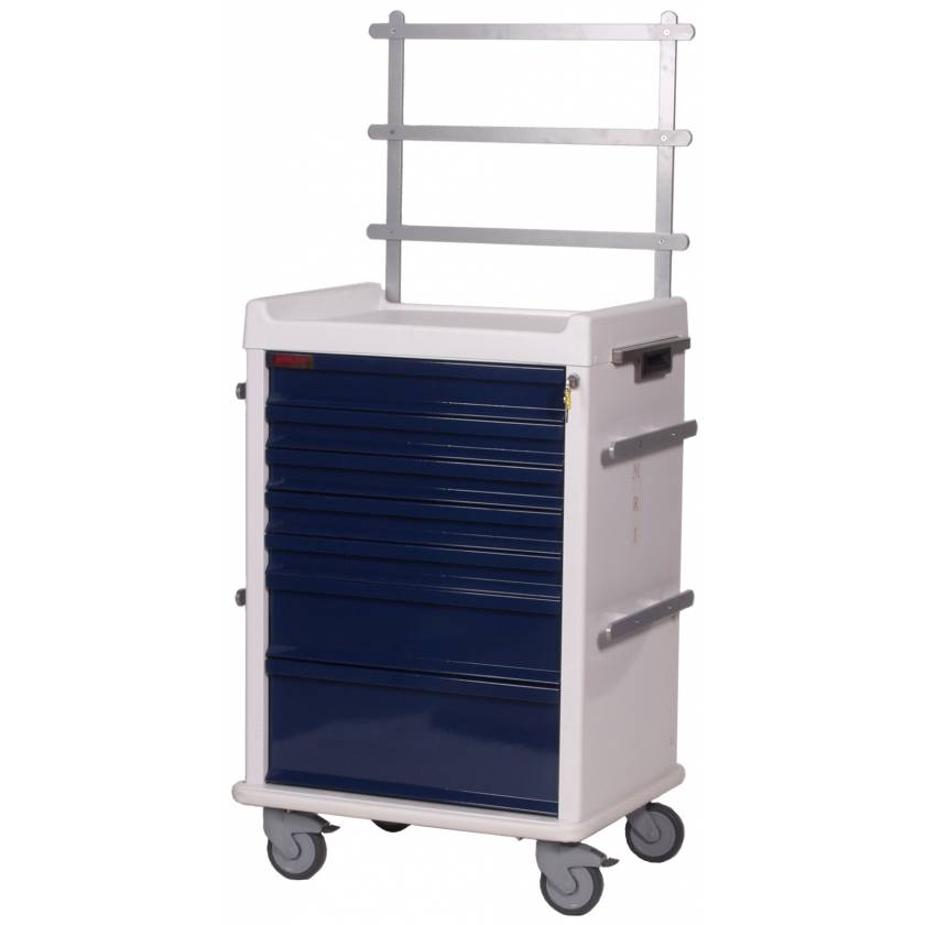 MRI Anesthesia Cart 7 Drawer - Specialty Package with Key Lock