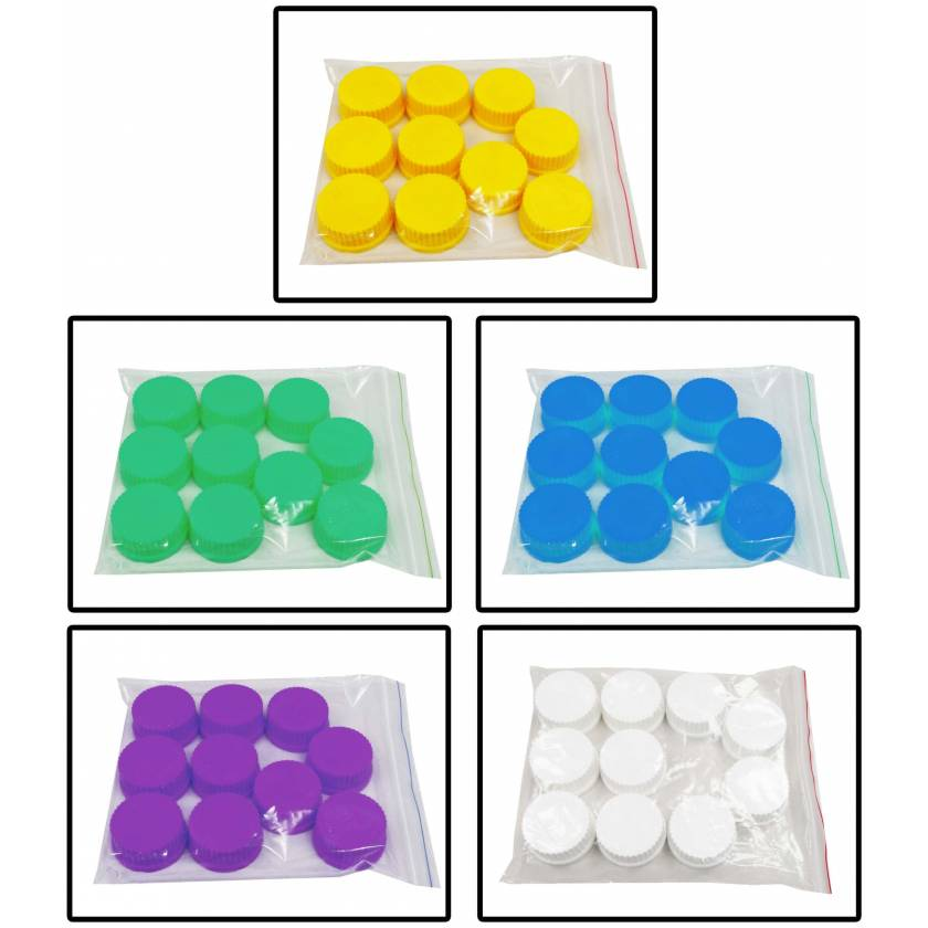 Replacement Assorted Caps (GL45) For Hybex Media Storage Bottles