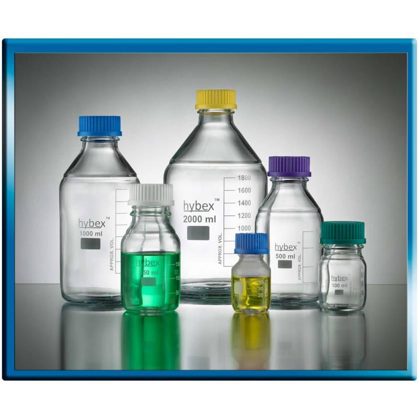Hybex Media Storage Bottle - 500ml - White Cap