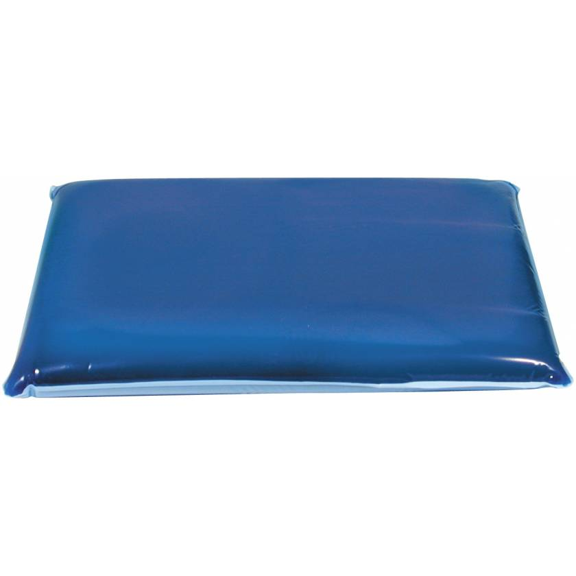 """Sloped Thoracic Positioner Dimensions 10 1/2"""" by 16""""  Gel Pad is sloped From 2"""" to 1 1/2"""" thick"""