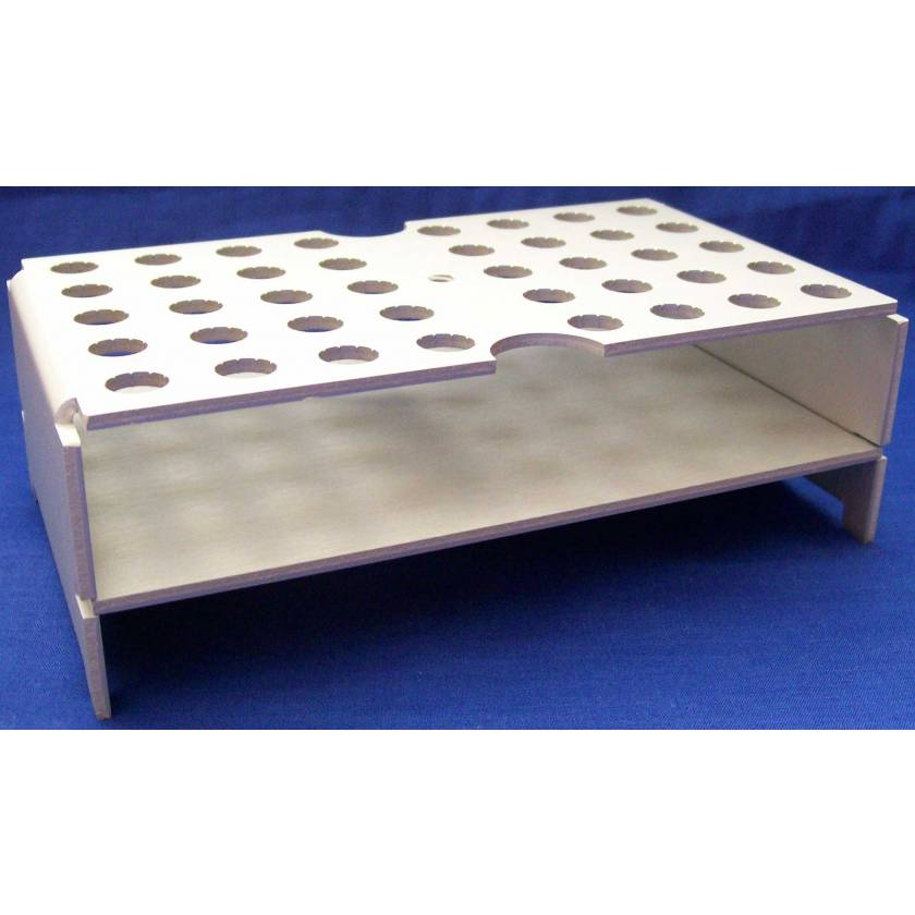 40-Place Keyed Rack - Anodized Aluminum