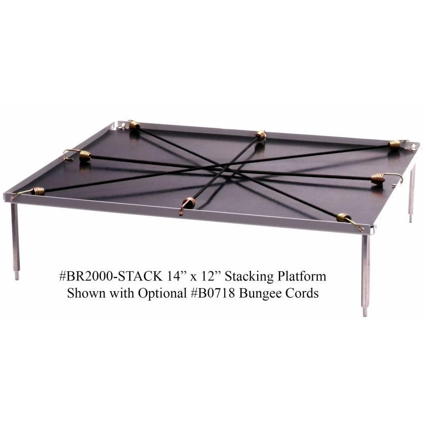 "Optional Stacking Platform With Flat Mat - Extra Large 14"" x 12"""