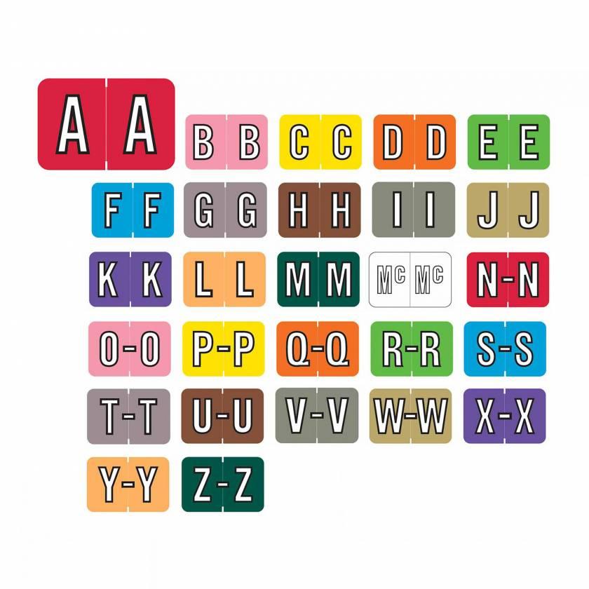 "Barkley FABKM Match BRAM Series Alpha Roll Labels - 1""H x 1 1/2""W"