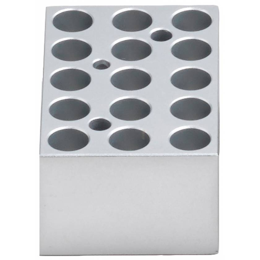 Block For MyBlock Mini Dry Bath - 15 x 1.5ml / 2ml Conical Tubes